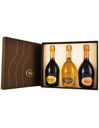 Champagne Coffret Trio Ruinart - Brut, Rosé & Blanc de Blancs - Ruinart - Chai N°5