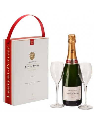 Coffret Brut + 2 Coupes - Laurent Perrier - Chai N°5