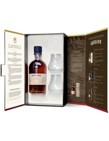 Coffret + 2 Verres Aberlour - 15 ans - Single malt - Chai N°5