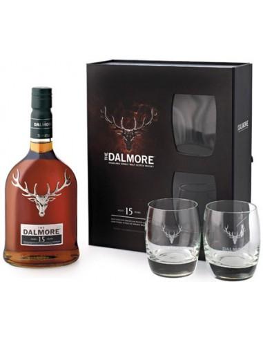 Whisky The Dalmore 15 ans en Coffret + 2 Verres - Chai N°5