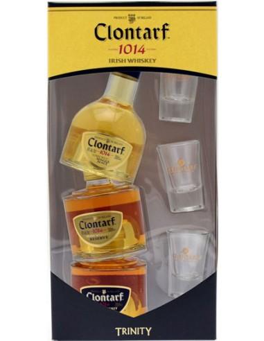 Coffret 3 mini Bouteilles + 3 verres - Irish Whisky - Clontarf - Chai N°5