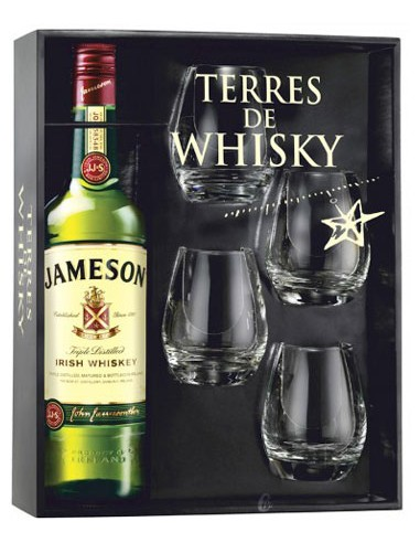 Coffret + 4 Verres - Original - Jameson