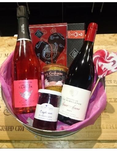Coffret Saint-Valentin Champagne, Vin, Chocolat . . . - Chai N°5