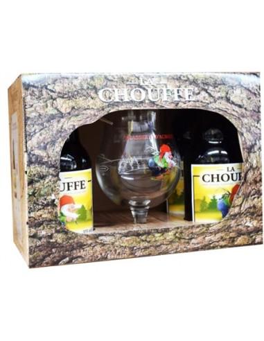 Coffret La Chouffe Blonde 4 bouteilles + 1 Verre - Chai N°5