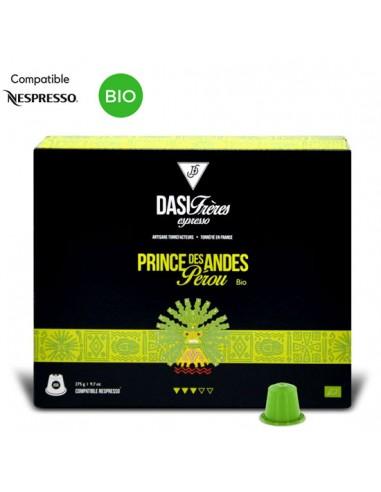 Café Bio Capsules Princes des Andes du Pérou par 50 - Chai N°5