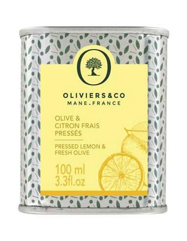 Huile d'Olive et Citron frais pressés 100 ml - Oliviers & Co - Chai N°5