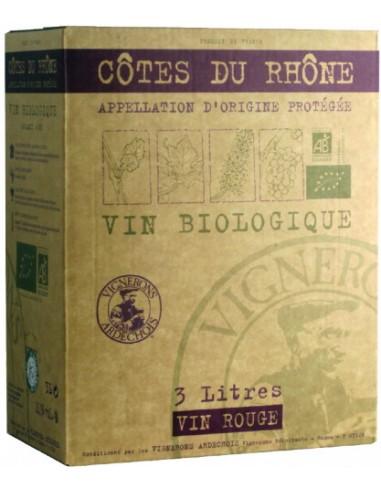 Vin Côtes du Rhône Bio 3 L - Les Vignerons Ardéchois - Chai N°5