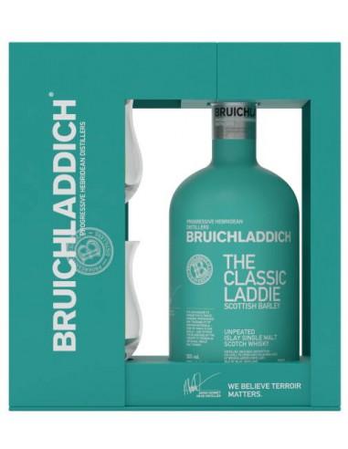 Whisky Bruichladdich The Classic Laddie Coffret + 2 Verres - Chai N°5
