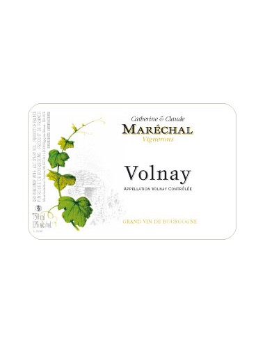 Volnay - 2012- Domaine Maréchal - Chai N°5